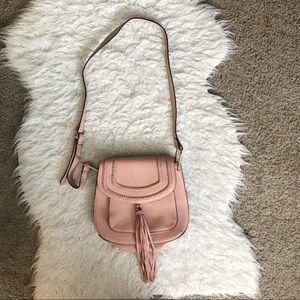 🔴Franco Sarto pink fringe tassel crossbody purse